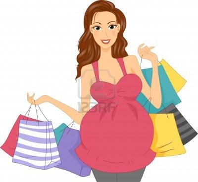 11467567-ilustracia-n-de-una-chica-embarazada-con-bolsas-de-compras