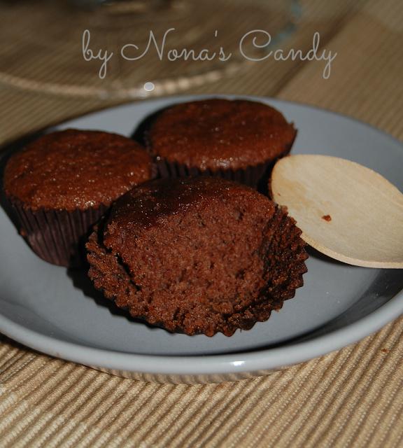Mini muffins de xoco sin gluten detalle